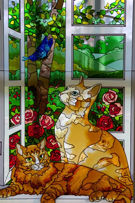 stained glass cats  explore march