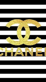 Gold Logo Chanel Poster by Del Art