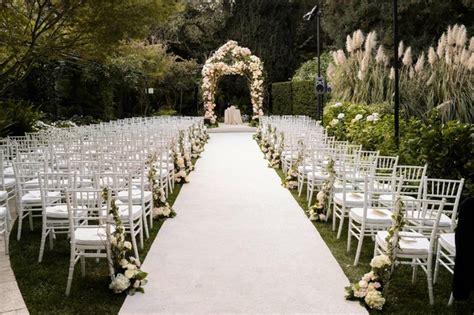 gorgeous alfresco garden wedding in bel air california inside weddings