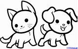 Coloring Cute Kawaii Pages Animals Draw Step Comments sketch template