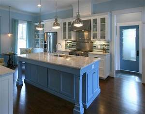 8 diy kitchen color ideas that will make you regret for Kitchen cabinet trends 2018 combined with navy blue and white wall art
