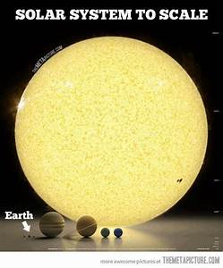 Our solar system to scale | Do you really SEE? | Pinterest