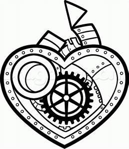 How to Draw a Steampunk Heart, Step by Step, Concept Art ...