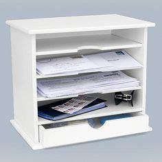 White Wood Desk Organizer by Vintage Wood Desk Organizer Distressed White By