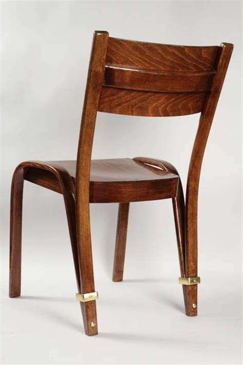 pair of quot bow wood quot chairs by steiner 1950s at 1stdibs