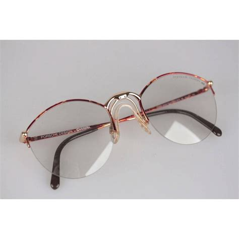Prevent eyeglasses from slipping when sweating. Porsche Design By Carrera Vintage Eyeglasses 5670 53-23 Large Frame For Sale at 1stdibs