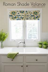 Roman shade valance newton custom interiors for Curtains that look like roman shades