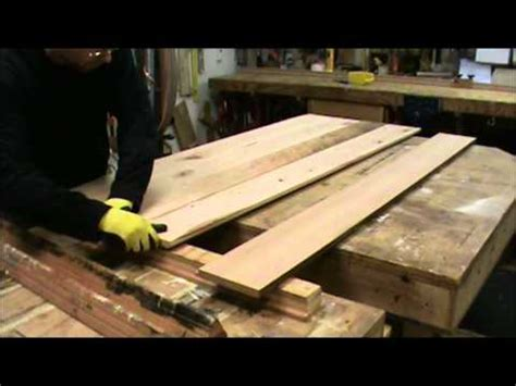 building  reclaimed wood tabletop youtube