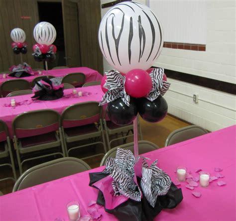 Decorating Ideas Zebra Print Birthday by Zebra Decorations Favors Ideas