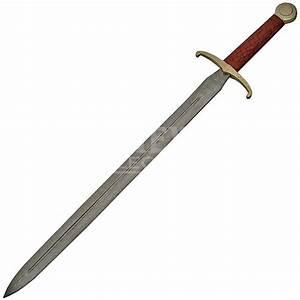 Damascus Excalibur Sword, damascus steel sword, damascus