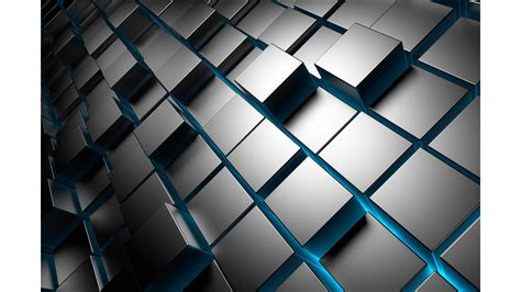 silver wall grey cubes 3d 4k wallpaper free 4k wallpaper