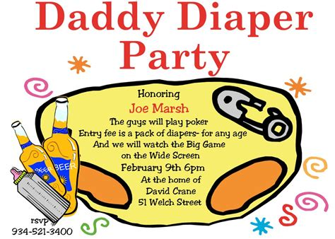 Daddy Diaper Party Invitations New Selections Spring 2018. Free Floor Plan Template. Excel Expense Report Template. Golf Tournament Invitation. Incident Action Plan Template. Proof Of High School Graduation. Garage Sale Sign Images. Office Business Card Template. Basic Training Graduation Gifts