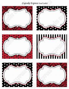 items similar to diy red and black victorian damask With black labels for printing