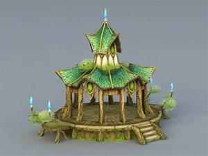 elf, style, pavilion, 3d, model, 3ds, max, files, free, download