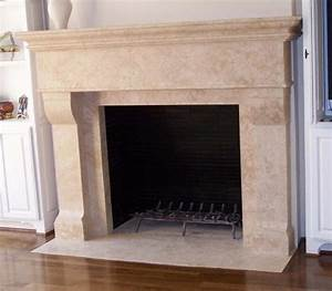 Custom Travertine Fireplaces - Traditional - Dining Room