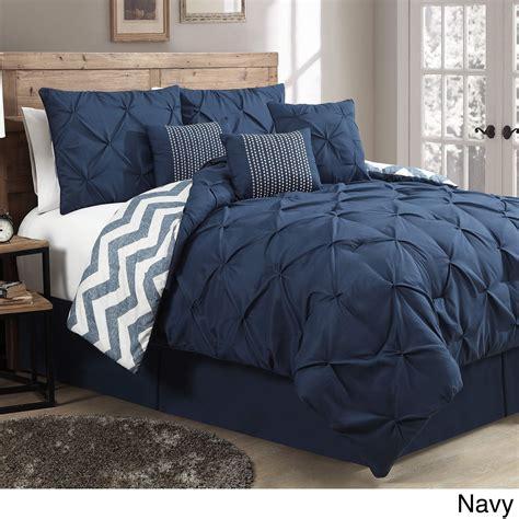 Navy Blue Set by Avondale Manor Ella Pinch Pleat Reversible 7