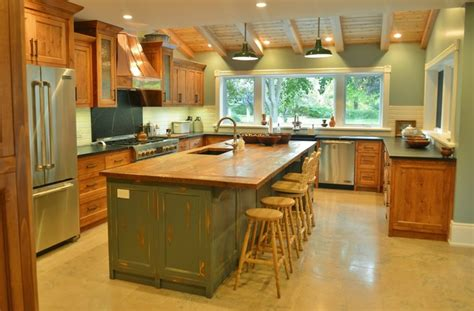 rustic teal kitchen cabinets rustic pine antique teal grey copper kitchen