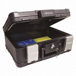 cathedral fireproof waterproof a4 deed box security box With waterproof document storage