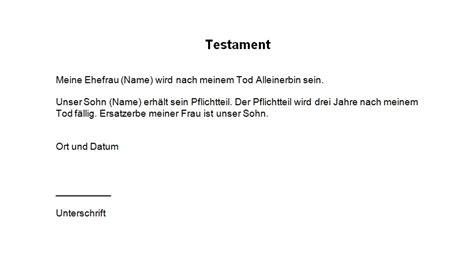testament vorlage testament handschriftlich