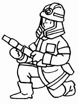 Coloring Pages Firefighter Printable Fireman sketch template