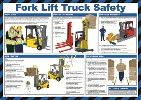 fork lift truck poster safety services direct