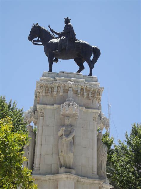 Plaza Nueva - Seville - equestrian statue - monument to Sa ...