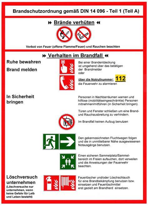 Die brandschutzordnung der leibniz universität hannover besteht aus drei teilen. Brandschutzordnung gemäß DIN 14 096 - Braun Dienstleistung