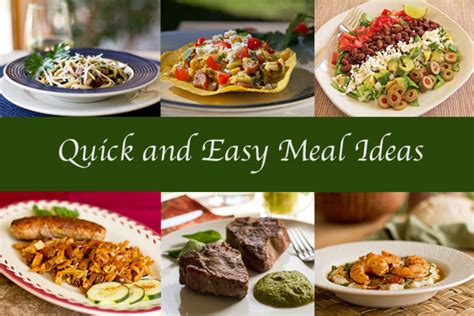 easy meal ideas quick easy meal ideas
