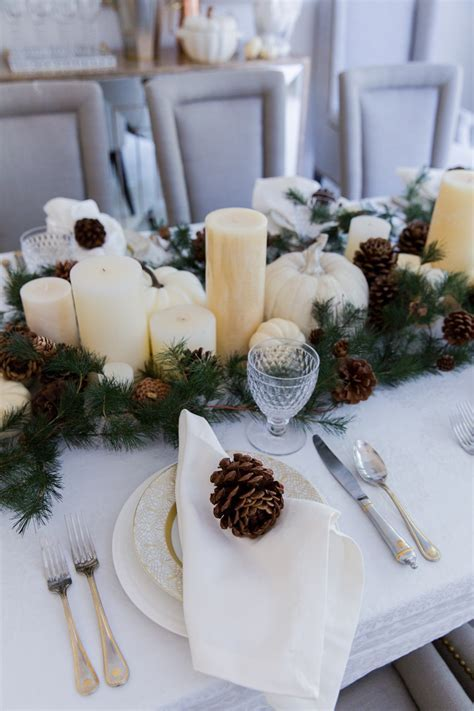 Thanksgiving Garland & Candle Centerpiece   Fashionable