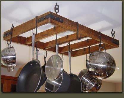 Kitchen Hangers For Pots And Pans by Rustic Country Primitive Hanging Pot Rack In 2019