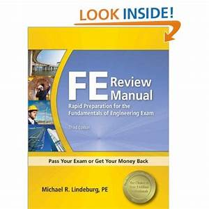 Fe Review Manual  Rapid Preparation For The Fundamentals