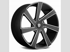 DUB® DIRECTA Wheels Black with Milled Accents Rims