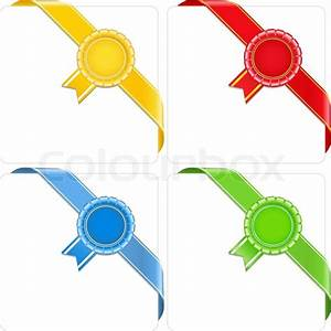Award corner ribbons, vector eps10 illustration | Stock ...