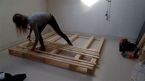 diy bed frame pallet bed frame diy
