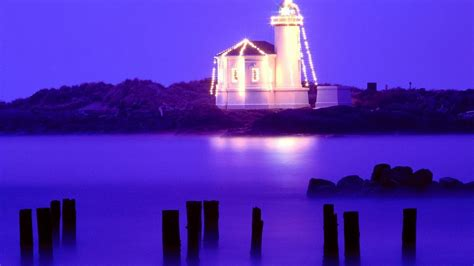 lighthouse christmas wallpaper wallpapersafari