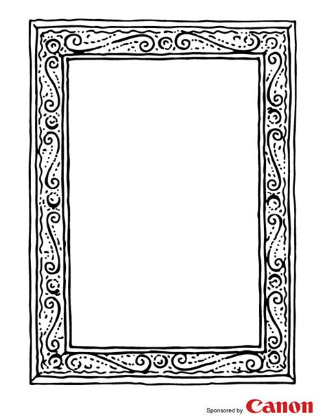 picture frame template craft templates for picture frame 1