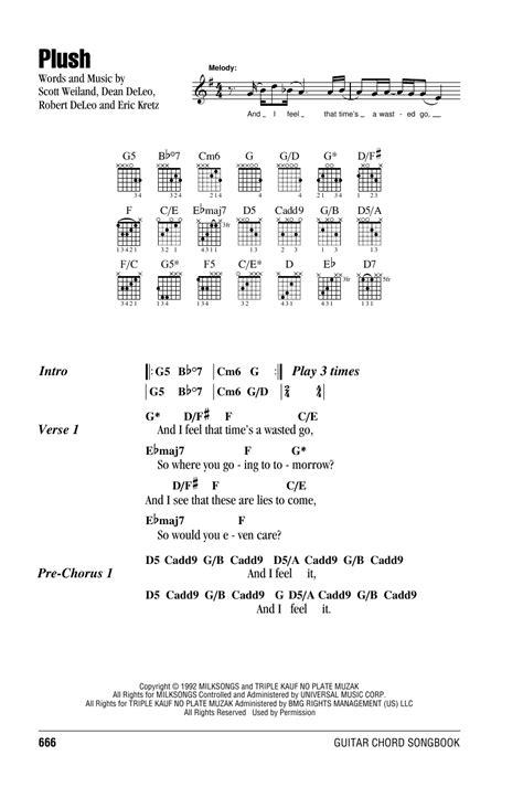 Stone Temple Pilots Plush Chords