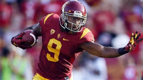 juju smith schuster leaving usc trojans  nfl draft