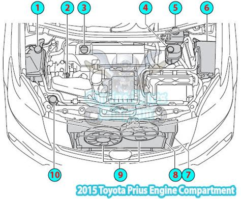 2006 Toyotum Rav4 Engine Diagram by 2015 Toyota Prius Engine Compartment Diagram