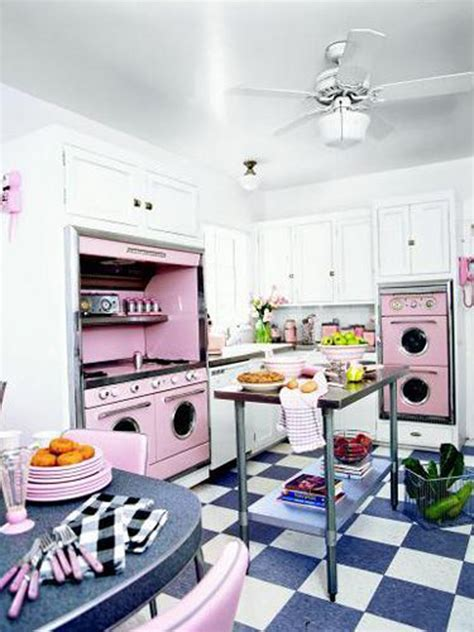 pink retro kitchen collection retro kitchen design ideas