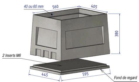 chambre de comptage aep niche eau 40x60