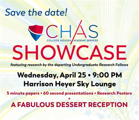 chas research showcase college houses academic services