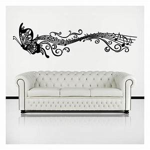 Adhesif Mural En Relief : musical papillon adh sif d coratifs en vinyle ~ Premium-room.com Idées de Décoration