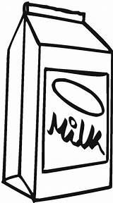 Milk Carton Coloring Drawing Mleko Draw Kartonie Kolorowanka Netart sketch template