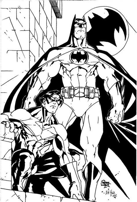 nightwing coloring pages batman and nightwing by roger by edhale coloring