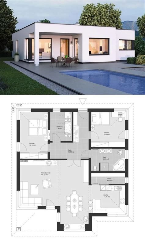 Bungalow Modern House Design With Floor Plan