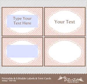 Free Printable Candy Buffet Labels Template