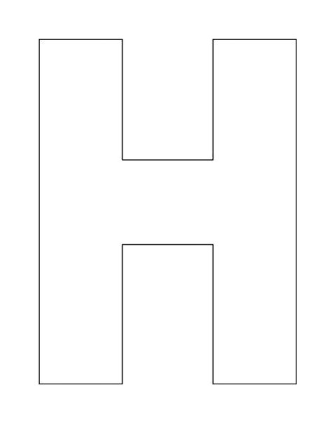 letter outline template pin by chin on pre k lettering alphabet and letter h activities