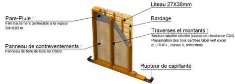 charpente du massif central maison bois le pack mur 224 ossature bois isol 233 e ou 233 conomique pour