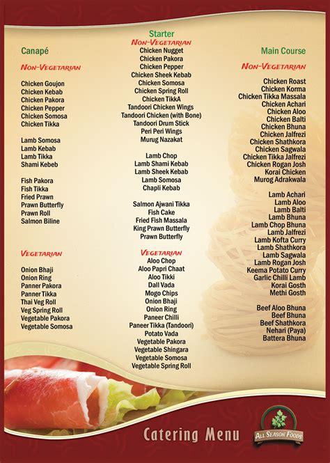 carte cuisine indian wedding food menu imgkid com the image kid